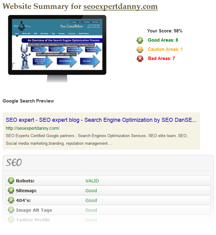 free-seo-website-report-sample