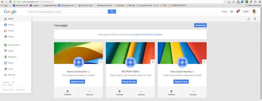 Manage Google Plus pages